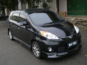 PERODUA ALZA 2009 SE DESIGN BODYKITS WITH LED